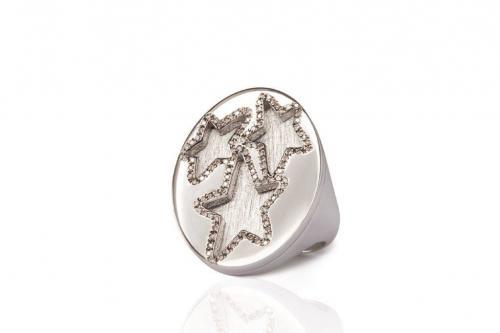 MIMIA LEBLANC STARS RING WHITE GOLD DIAMOND