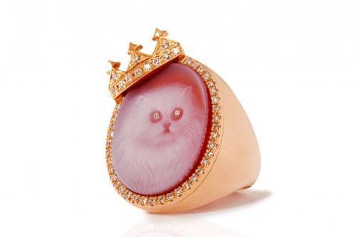 cat ring rose gold diamond mimia leblanc jewelry
