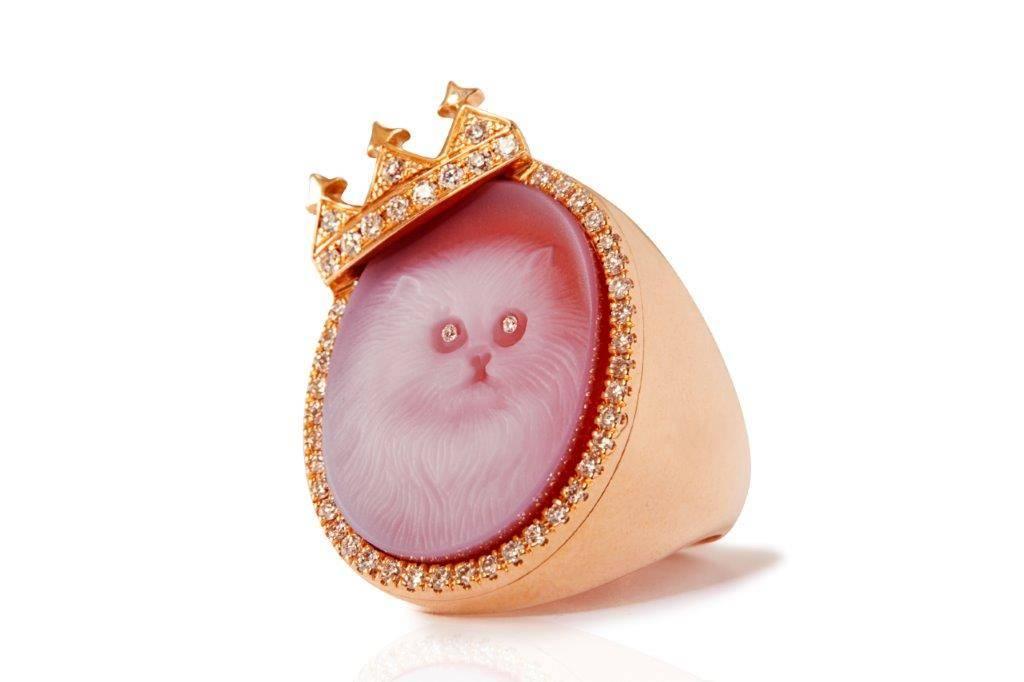 cat ring rose gold diamond mimia leblanc jewelry