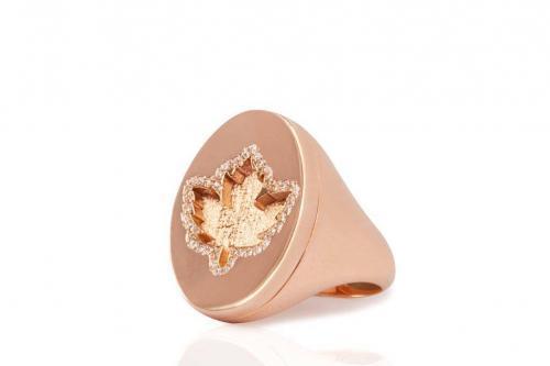 rose gold diamond pinky ring mimia leblanc jewelry