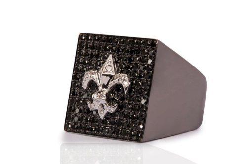 square black diamonds man ring mimia leblanc jewelry