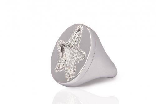 etoile star ring white gold mimia leblanc jewelry