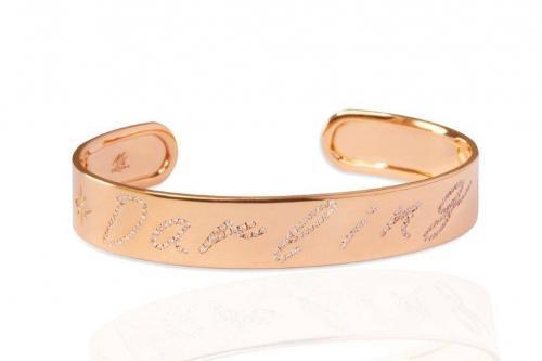 rose gold with diamonds bracelet bangle mimia leblanc jewelry