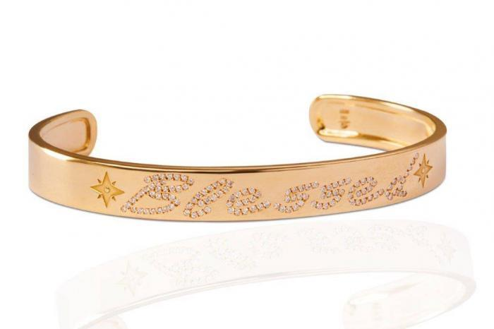 rose gold with diamonds bracelet bangle mimia leblanc jewelry