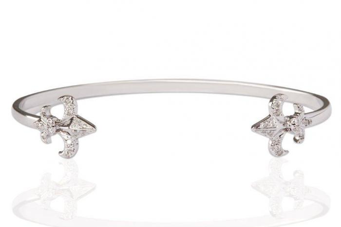 white gold damonds bracelet bangle mimia leblanc jewelry