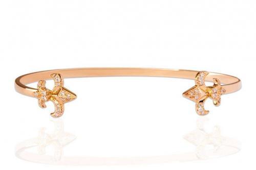 rose gold white diamonds bracelet bangle mimia leblanc jewelry