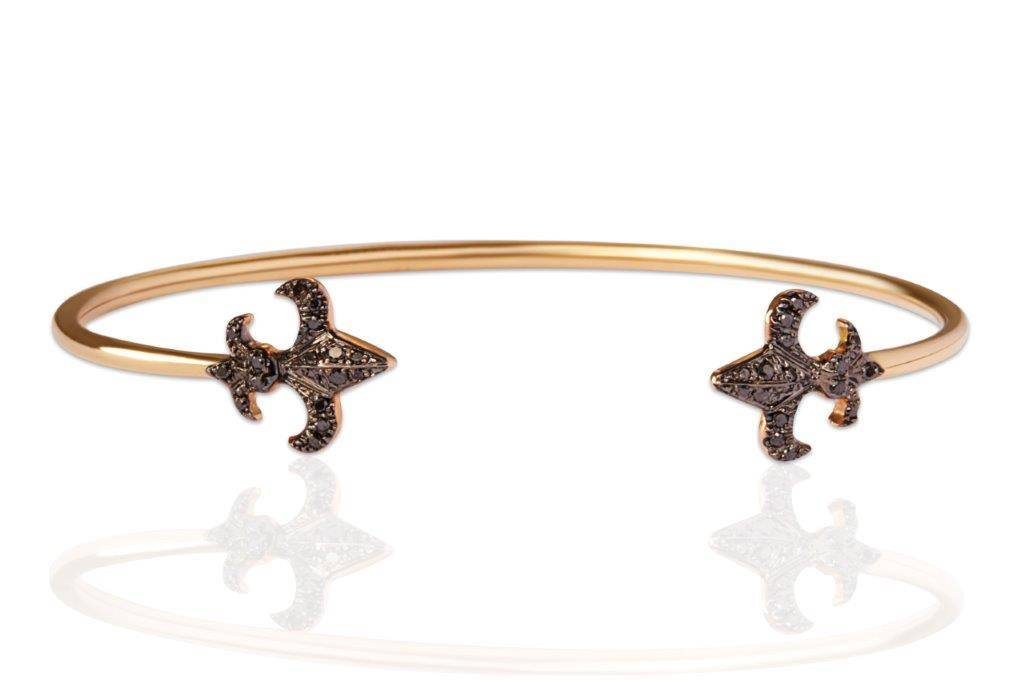 yellow gold black diamonds bracelet mimia leblanc jewelry