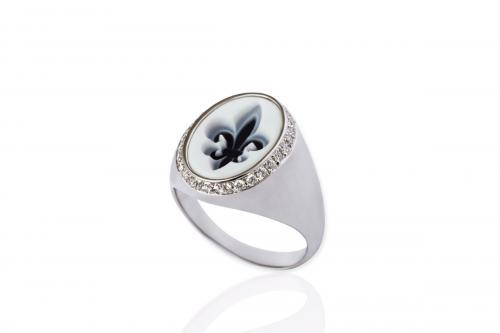 Mimia LeBlanc Jewelry RING DIAMONDS FLEUR DE LYS