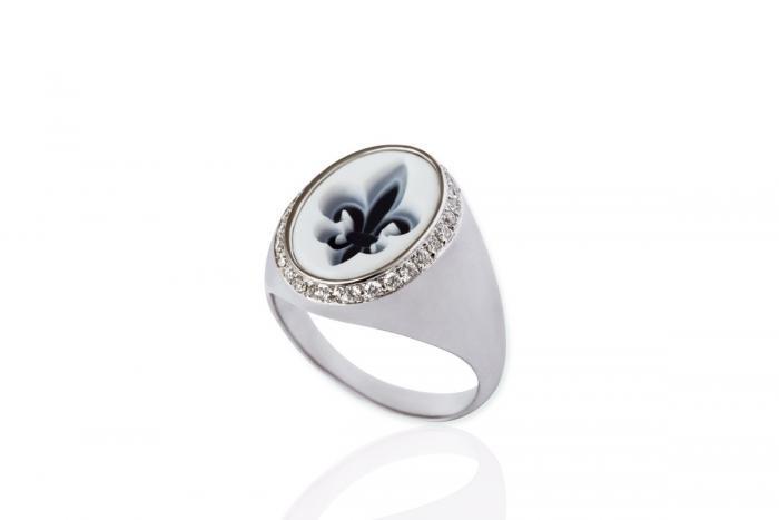Mimia LeBlanc Jewelry RING DIAMONDS FLEUR DE LYS