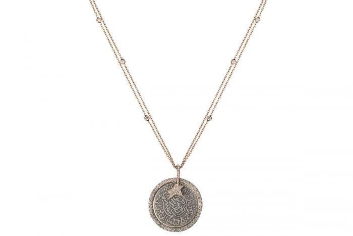 Mimia LeBlanc Jewelry VINTAGE COIN DIAMONDS PENDANT