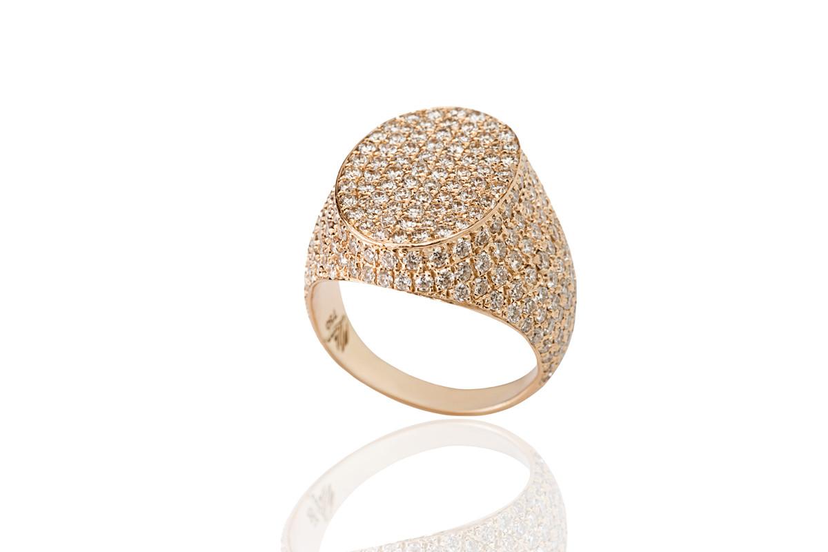 Mimia LeBlanc Jewelry rose GOLD DIAMOND RING PINKY