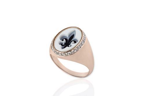 FLEUR DE LYS rose GOLD RING Mimia LeBlanc Jewelry