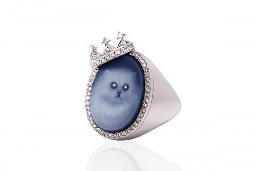 CAT RING GOLD DIAMONDS Mimia LeBlanc Jewelry