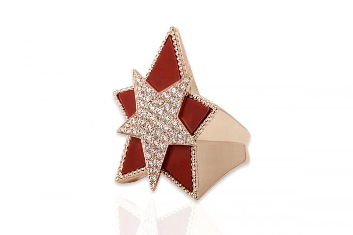 ETOIOLE CELESTE RING DIAMANT Mimia LeBlanc Jewelry