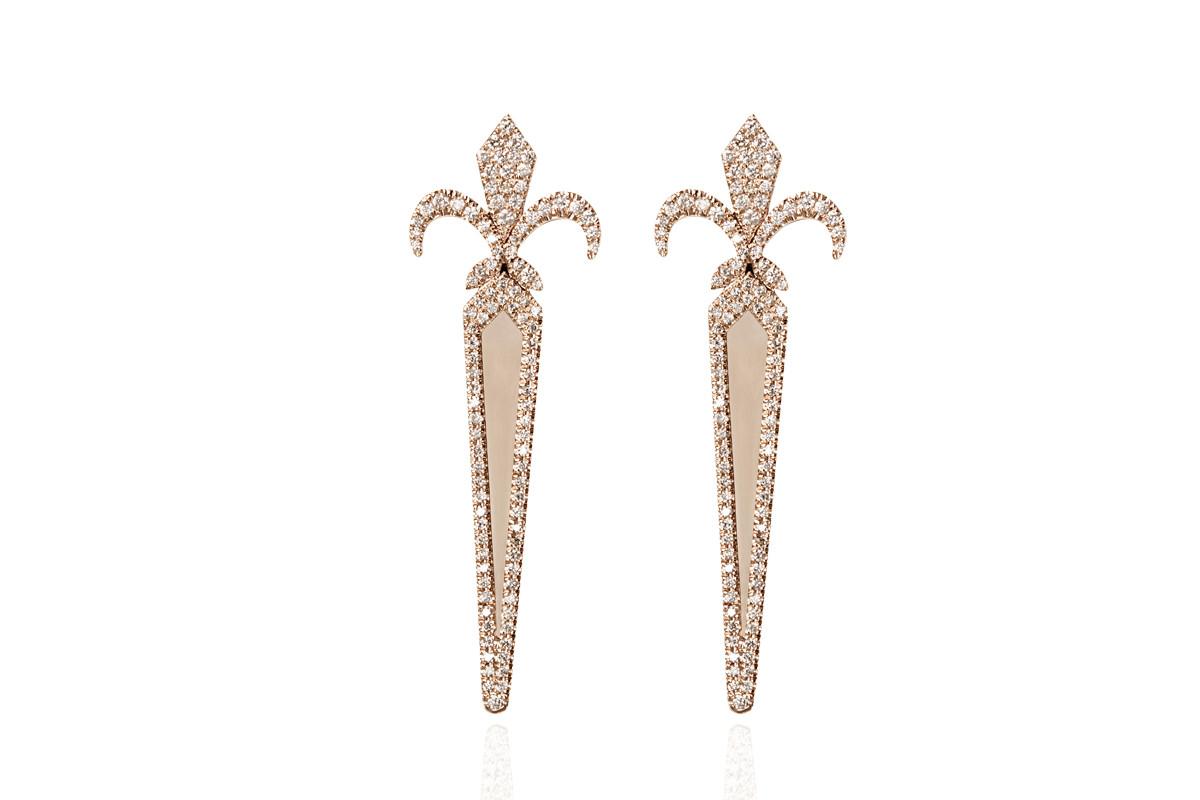FLEUR DE LYS FILANTE EARRINGS Mimia LeBlanc Jewelry