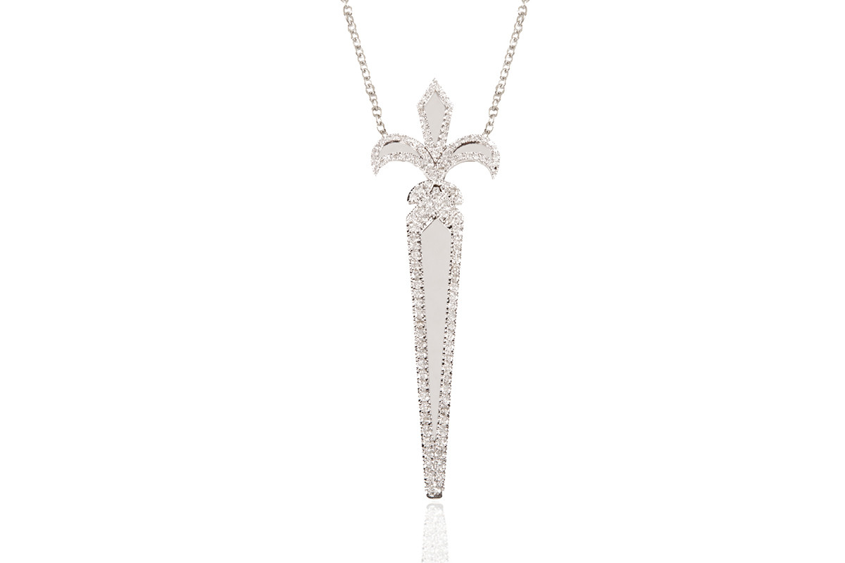 FLEUR DE LYS FILANTE PENDANT Mimia LeBlanc Jewelry