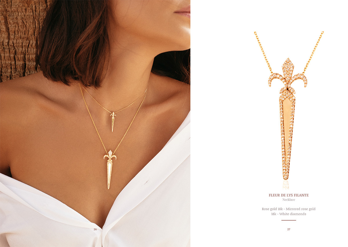 leblanc mimia earring gold diamonds